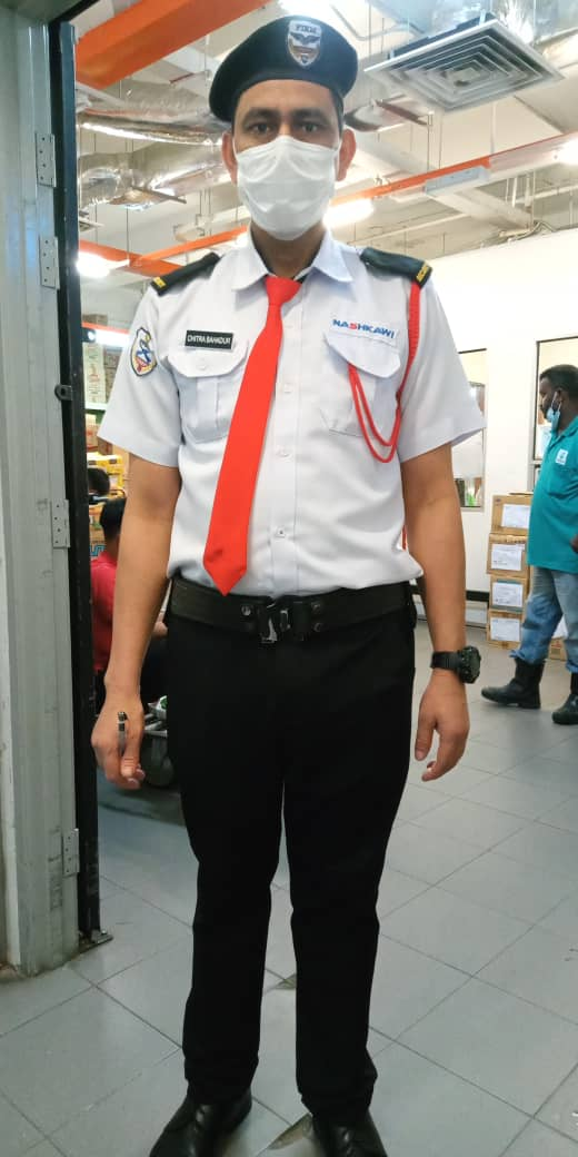 Nepal security officer in Malaysia